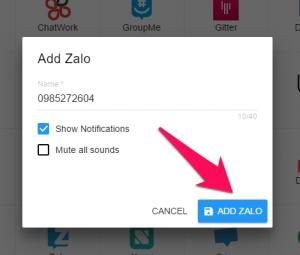 Đăng nhập cùng lúc nhiều tài khoản Zalo trên máy tính 5