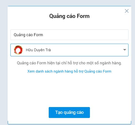 Lựa chọn tài khoản Zalo OA