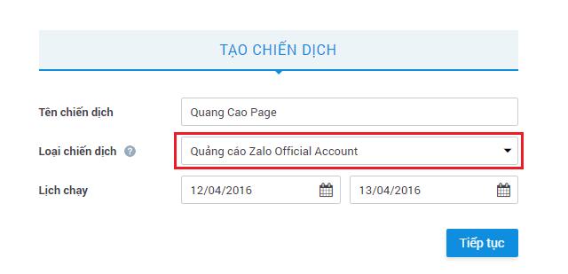 Quang cao Zalo A1