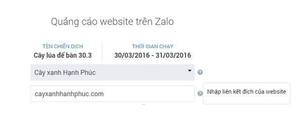 Quang cao Zalo B2