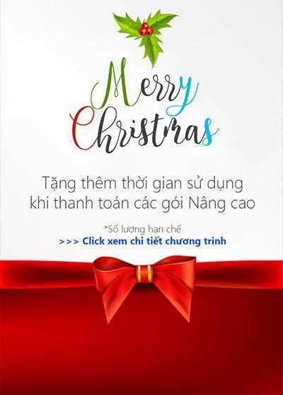 Chương trình khuyến mãi cộng thêm thời gian sử dụng chào mừng Giáng Sinh 2016