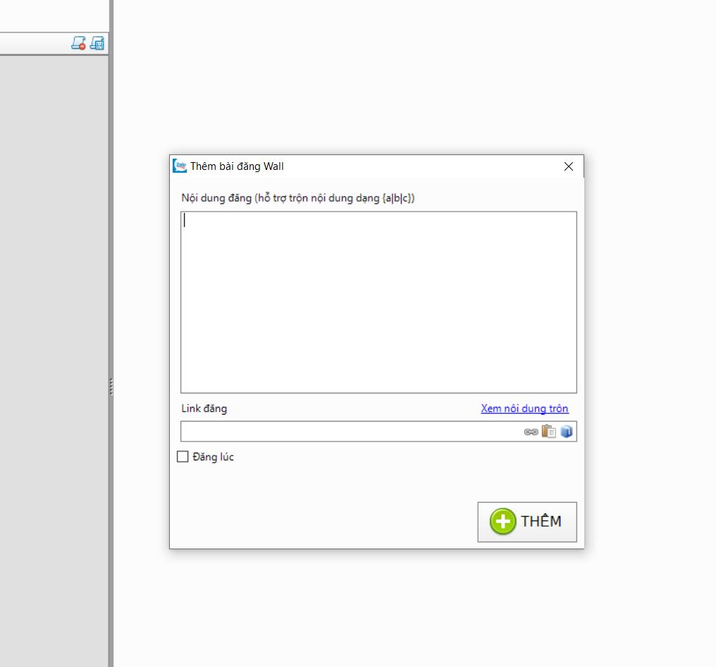 Tính năng đăng bài lên tường chỉ hỗ trợ text và đường link