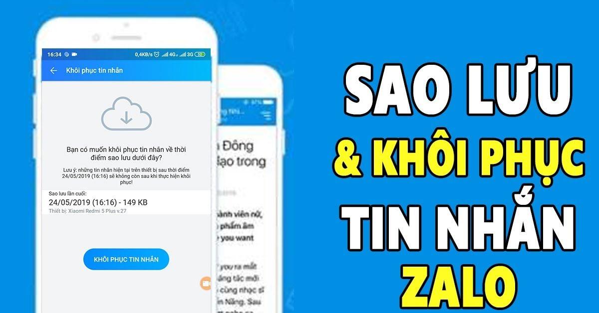 Hướng dẫn khôi phục tin nhắn Zalo trên máy tính, điện thoại